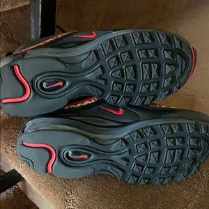 Nike Shoes - Mike Air Max 97 black red leopard size 7 Like new